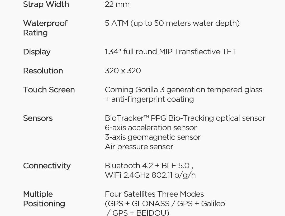 ساعت هوشمند شیائومی مدل Amazfit Stratos 3 19