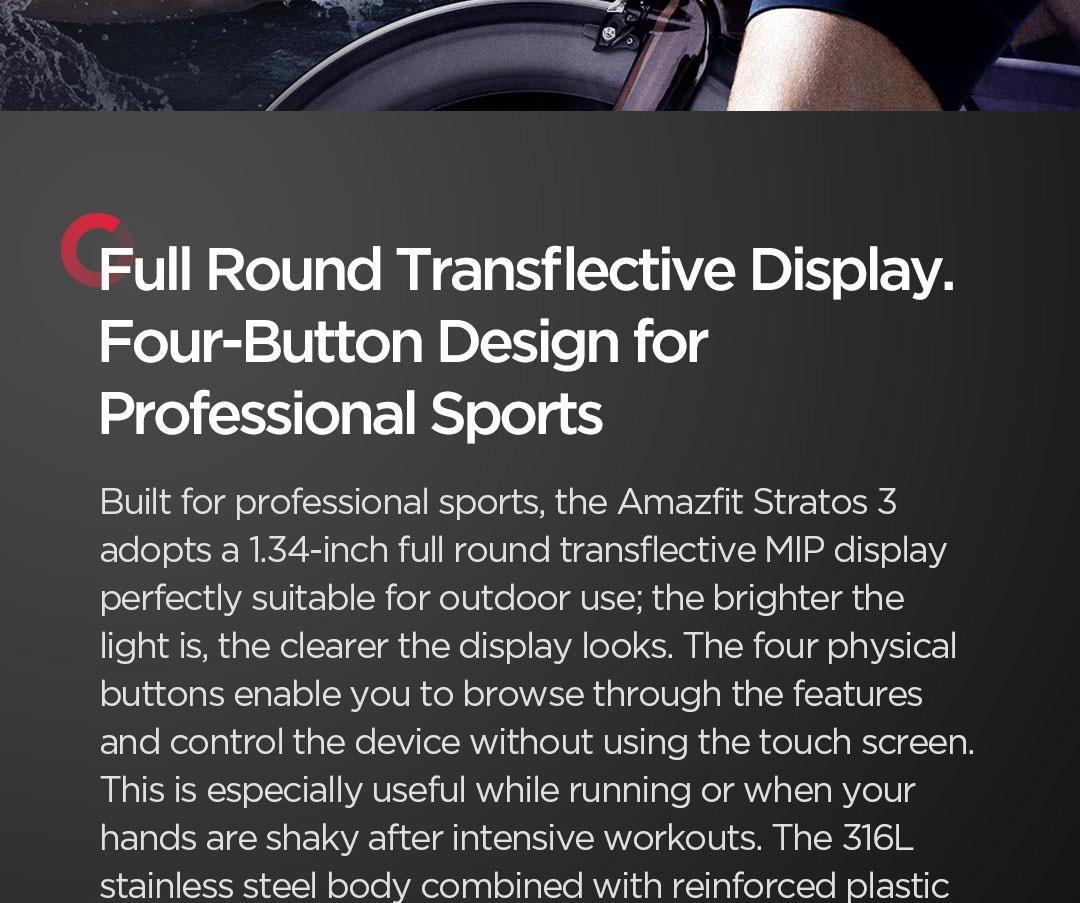 ساعت هوشمند شیائومی مدل Amazfit Stratos 3 2