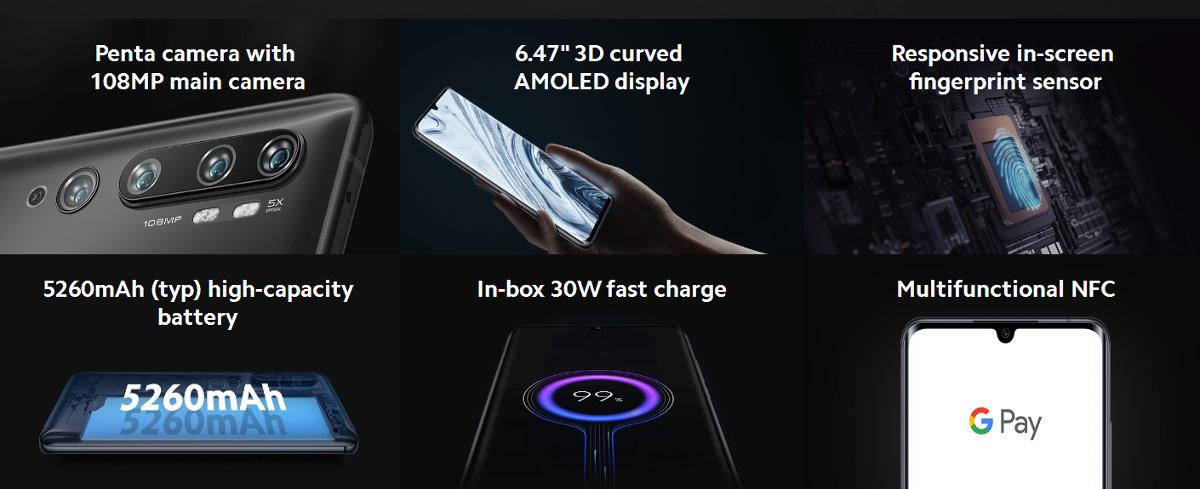 گوشی شیائومی مدل Mi Note 10 Pro ظرفیت 256 گیگابایت 1