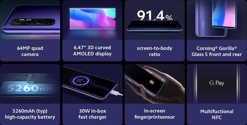 گوشی شیائومی مدل Mi Note 10 Lite ظرفیت 128 گیگابایت 1