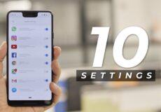 ۱۰ settings