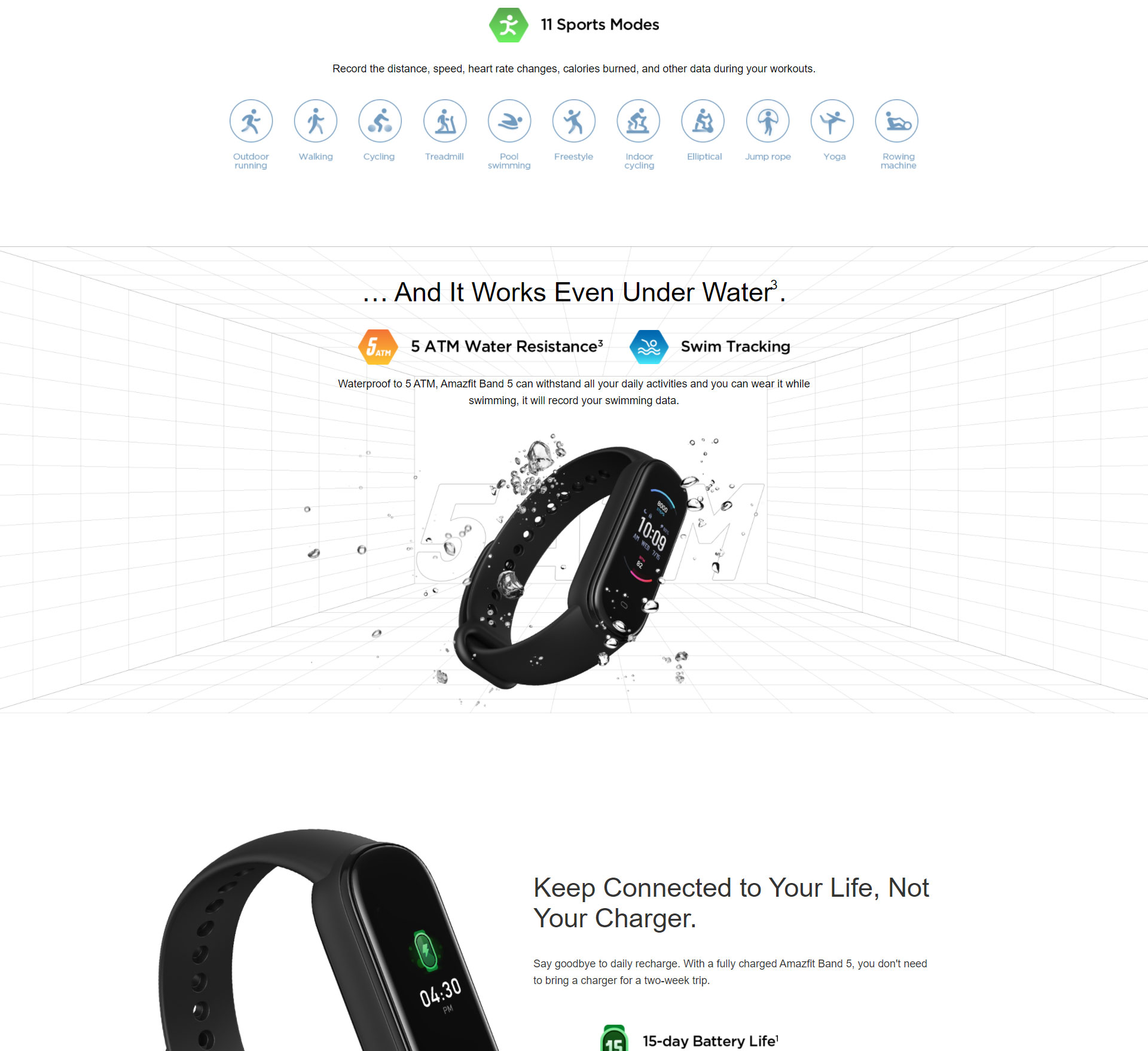 دستبند سلامتی شیائومی مدل Amazfit Band 5 6