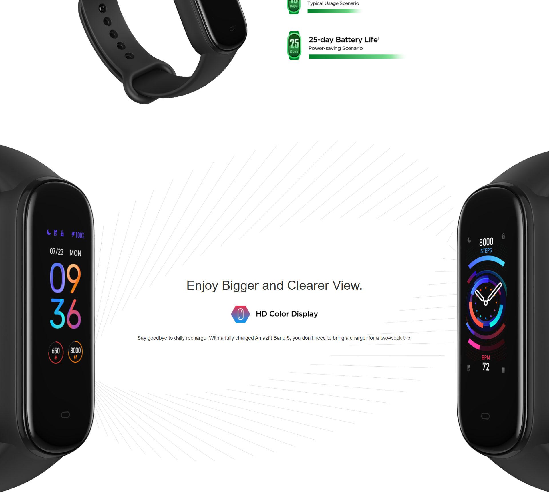 دستبند سلامتی شیائومی مدل Amazfit Band 5 7