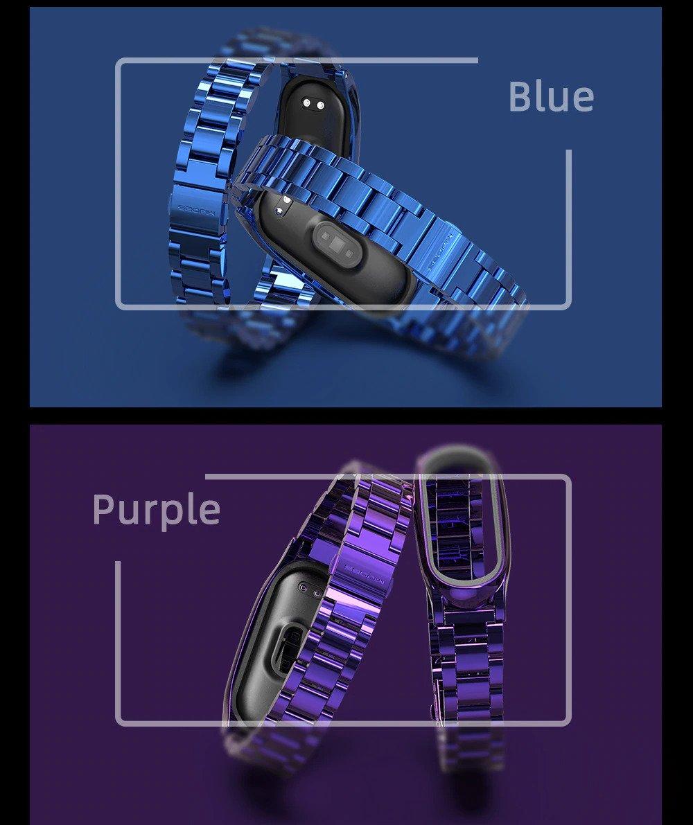 بند فلزی دستبند سلامتی شیائومی Xiaomi Mi Band 5 Bead 3 Wrist Strap Xiaomi Mi Band 5 Bead 3 Wrist Strap