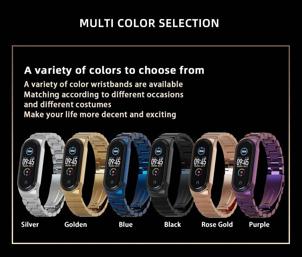 بند فلزی دستبند سلامتی شیائومی Xiaomi Mi Band 5 One Bead Link Wrist Strap 1