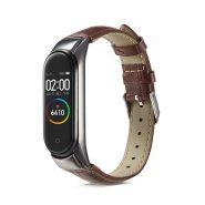 بند چرمی دستبند سلامتی شیائومی Xiaomi Mi Band 5 / 4 / 3 Leather Strap Leather Strap