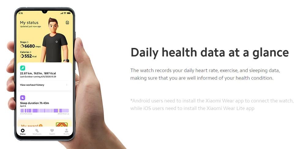 ساعت هوشمند شیائومی مدل Mi Watch Lite 6