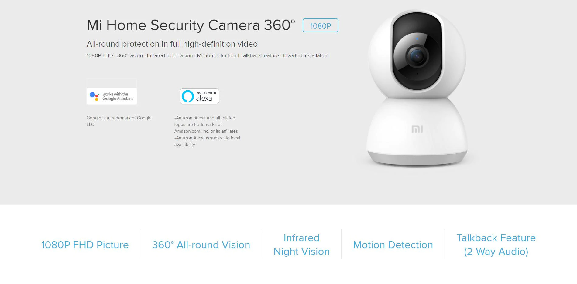 دوربین هوشمند تحت شبکه شیائومی مدل PTZ 1080p مدل MJSXJ05CM