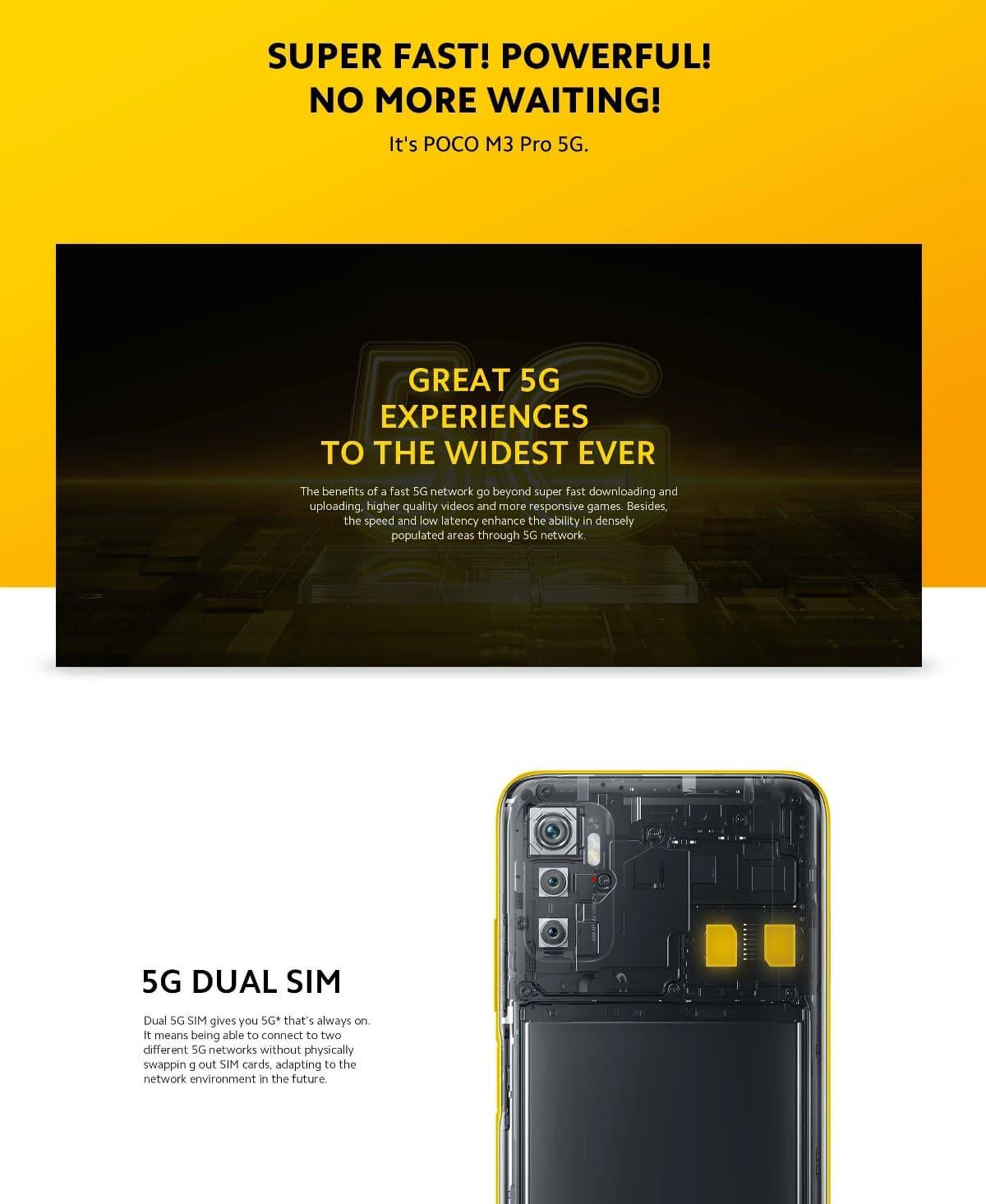 گوشی شیائومی مدل پوکو اِم 3 پرو 5 جی ظرفیت 4/64 گیگابایت