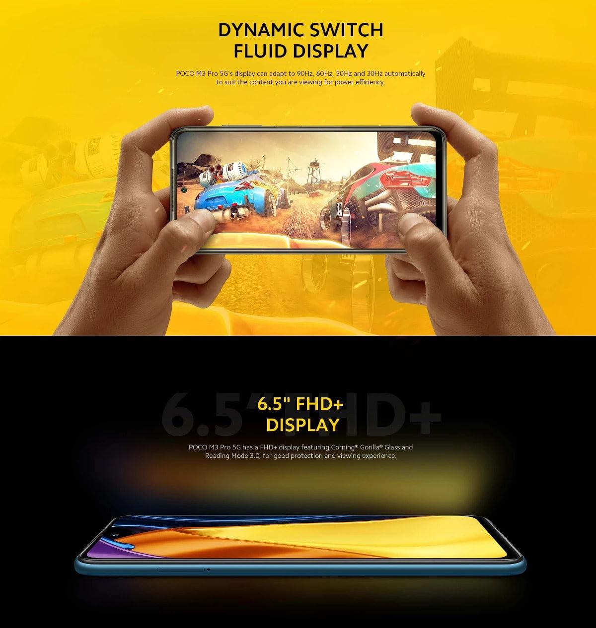 گوشی شیائومی مدل پوکو اِم 3 پرو 5 جی ظرفیت 4/128 گیگابایت