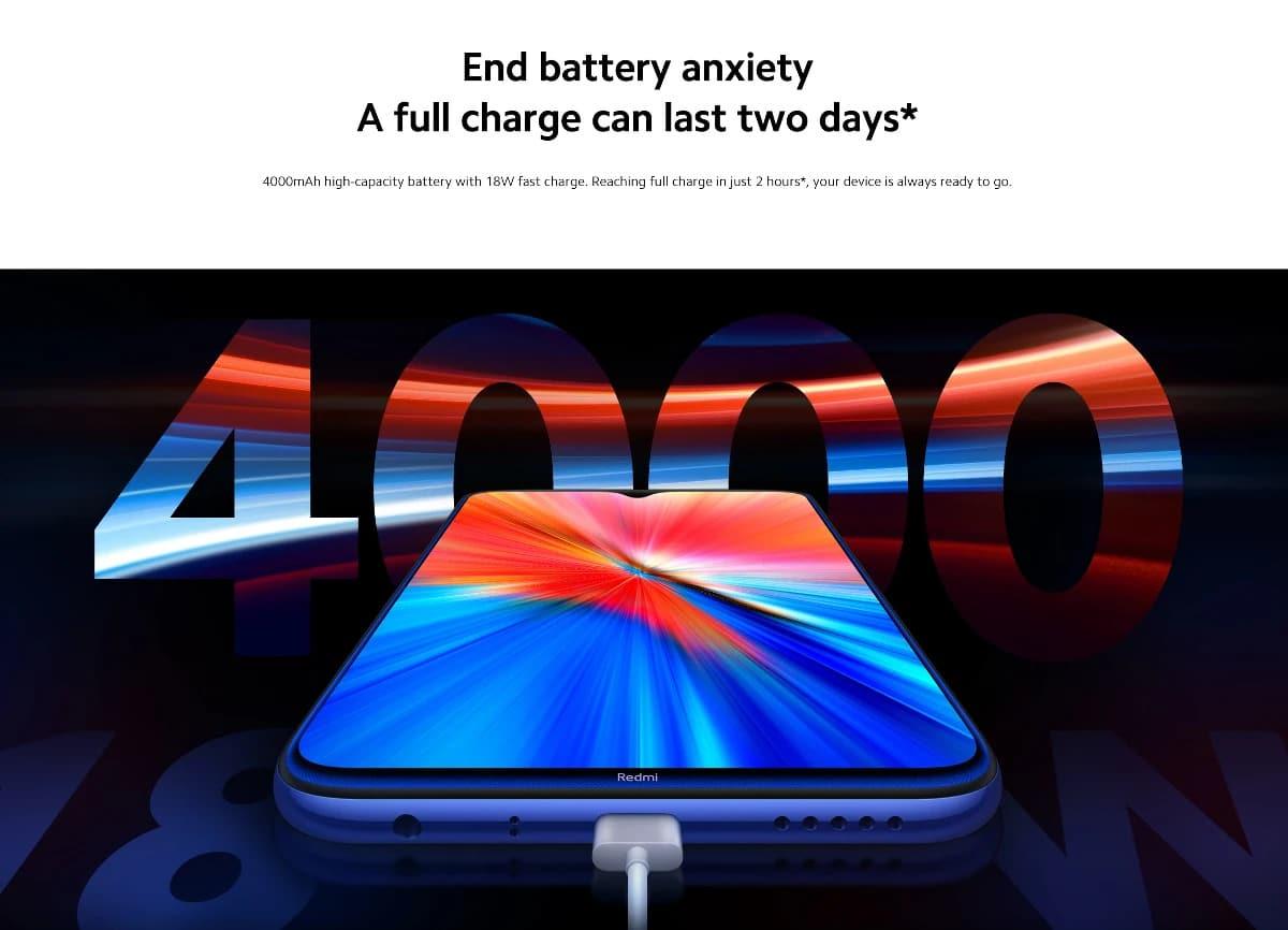 گوشی شیائومی ردمی نوت 8 2021 با ظرفیت 4/64   Xiaomi Redmi Note 8 2021 4/64