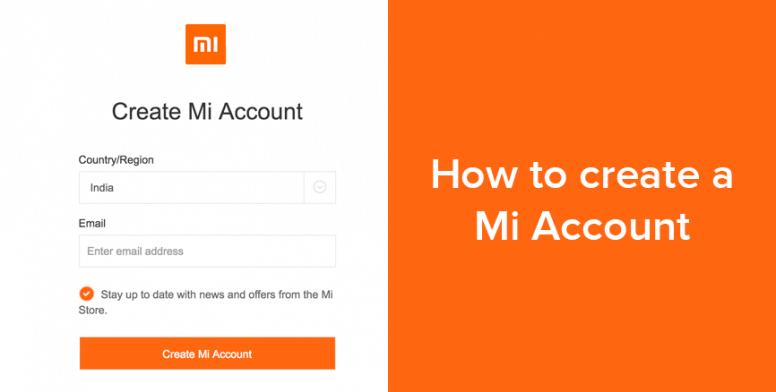 ساخت اکانت شیائومی (Mi Account) از طریق سایت